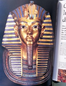 Photo du masque de Toutankhamon