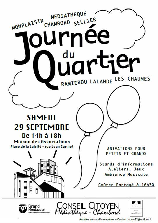 journée du quartier - chambord- sellier - Ramierou Lalande les Chaumes - mediathéque